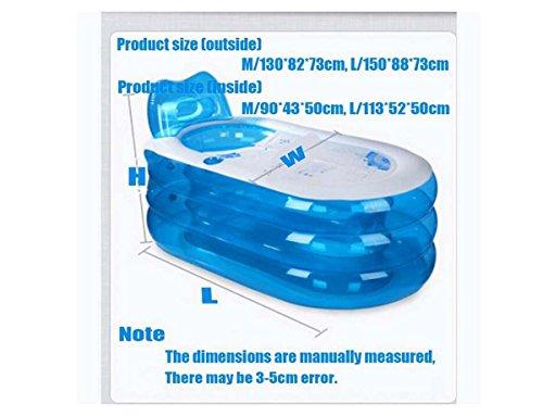 GONGFF-Elliptical-Storage-Bath-Drain-Valve-Can-Sit-Ultra-Big-Warm-Family-Bubble-Bath-Tub-Inflatable-Bathtub-Child-0-0
