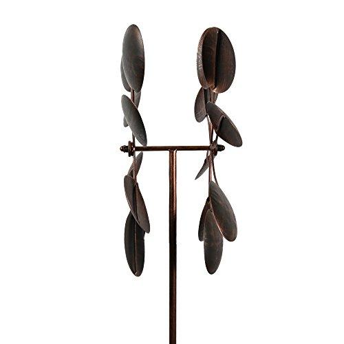 Garden-Kinetic-Wind-Spinner-Bronze-Leaves-0-2