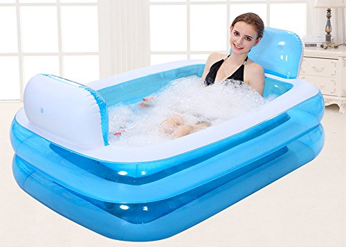 Giant-Folding-Inflatable-Bath-Tub-Adult-SPA-Free-Standing-Comfortable-BathtubThicken-Home-Massage-Tub-Soaking-with-Electric-Air-Pump-Double-Backrest-200-Liter-0-0