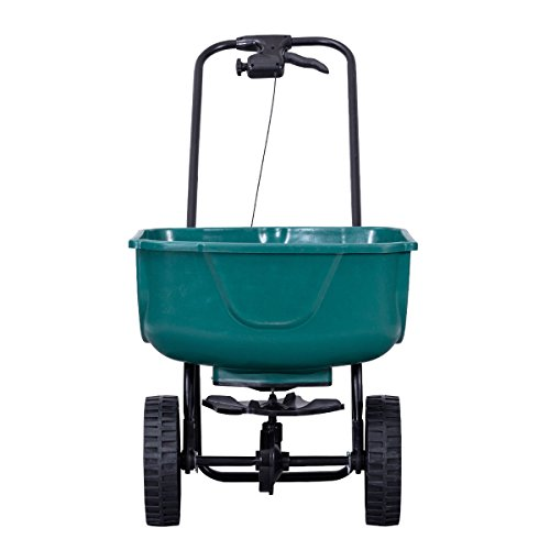 Globe-House-Products-GHP-44-Lbs-Capacity-Green-Steel-Plastic-Garden-Broadcast-Spreader-Fertilizer-Cart-0-0
