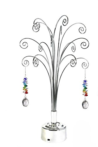 HOHIYA-Hanging-Crystal-Suncatchers-Ball-Garden-Guardian-Angel-Butterfly-Prisms-Pendant-Drop-Rainbow-Maker-Feng-Shui-Party-Home-Decoraions-Rotating-Display-Hanger-Hook-Stand-1675inchSilver-0-0