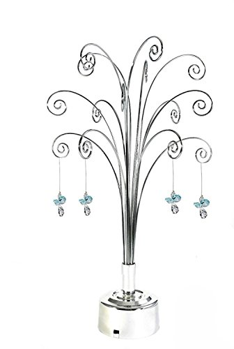 HOHIYA-Hanging-Crystal-Suncatchers-Ball-Garden-Guardian-Angel-Butterfly-Prisms-Pendant-Drop-Rainbow-Maker-Feng-Shui-Party-Home-Decoraions-Rotating-Display-Hanger-Hook-Stand-1675inchSilver-0-2