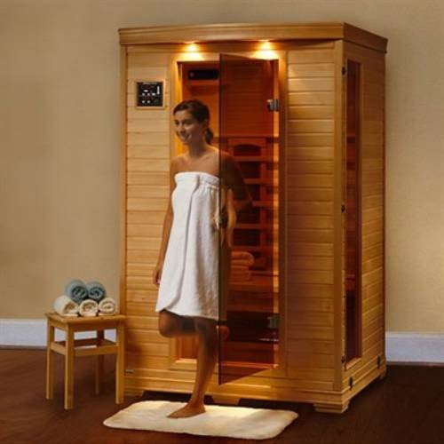 Hanko-1-2-Person-Pre-built-FAR-Infrared-Sauna-Highest-Quality-Hemlock-Construction-3-Premium-Ceramic-Heaters-Mp3cdstereo-Speakers-Built-in-Easy-Control-Panels-5-Year-Warranty-Easy-Construction-0