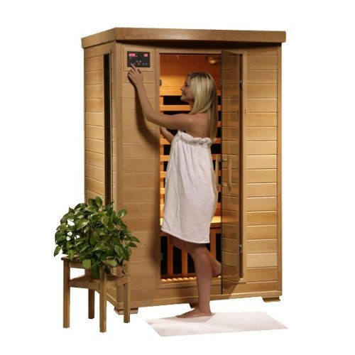 Hanko-2-Person-Pre-Built-FAR-Infrared-Sauna-6-Premium-Carbon-Heaters-High-Quality-Hemlock-Wood-Construction-Built-In-MP3AUXCDAMFM-Stereo-Speakers-7-Color-Therapy-Light-Backrests-Towel-Hooks-Magazine-R-0