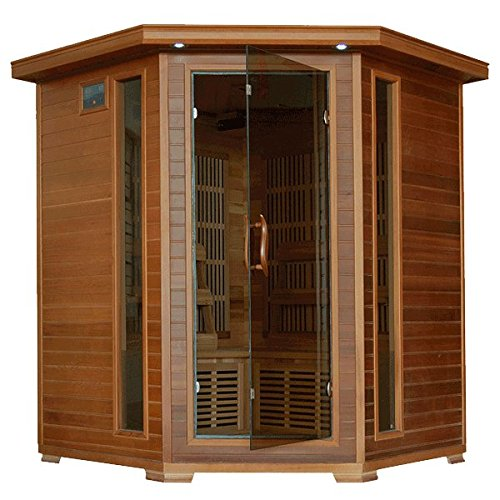HeatWave-SA1320-Whistler-4-Person-Cedar-Corner-Infrared-Sauna-with-10-Carbon-Heaters-Bronze-Tinted-Tempered-Glass-Door-Oxygen-Ionizer-EZTouch-Cortrol-Panel-CHROMOTHERAPY-System-and-Sound-0