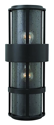 Hinkley-1909SK-Contemporary-Modern-Two-Light-Wall-Mount-from-Saturn-collection-in-Blackfinish-0