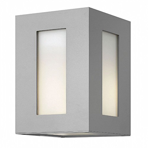 Hinkley-2190TT-LED-Dorian-123-17W-2-LED-Outdoor-Wall-Sconce-Titanium-Finish-with-Clear-Painted-White-Glass-0