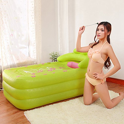 Iashion-Adult-Inflatable-BathtubPVC-Foldable-3-Floor-Independent-Plastic-Swimming-Pool-SPAMassageWith-Cover-Lock-The-Heat1608575Cm-0-0