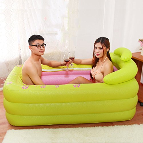 Iashion-Adult-Inflatable-BathtubPVC-Foldable-3-Floor-Independent-Plastic-Swimming-Pool-SPAMassageWith-Cover-Lock-The-Heat1608575Cm-0-1