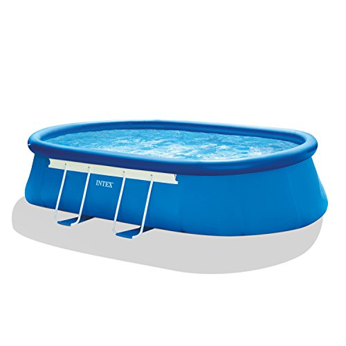 Intex-18ft-X-10ft-X-42in-Oval-Frame-Pool-Set-with-Filter-Pump-Ladder-Ground-Cloth-Pool-Cover-0