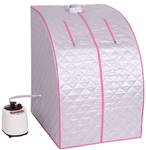 KA-Company-Portable-2l-Steam-Sauna-Spa-Full-Body-Slimming-Loss-Weight-with-Chair-Silver-0-0