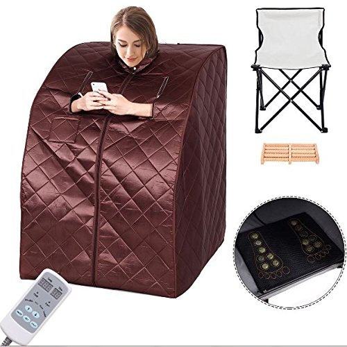 KA-Company-Portable-Far-Infrared-Sauna-Body-Slimming-Fitness-Heating-Fat-Loss-Burning-60-F-140-F-with-Chair-Coffee-0