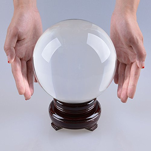 LONGWIN-150mm-59-inch-Divination-Crystal-Ball-Glass-Globe-Sphere-Free-Wooden-Stand-0-0