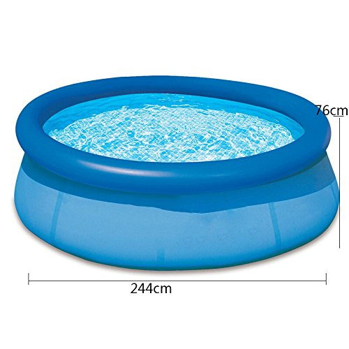 LZTET-Fast-Set-Round-Inflatable-Family-Swimming-Pool-Folding-Bathtub-Garden-Outdoor-Swimming-Playing-Pool-Paddling-Pool-Blue-Size-Optional-0-2