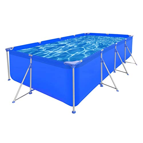 LicongUS-Above-Ground-Swimming-Pool-Steel-Rectangular-12-11-x-6-10-x-2-7-Swimming-Pool-Above-Ground-Swimming-Pool-Pool-Wall-Reinforced-with-a-Polyester-Mesh-0