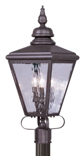 Livex-Lighting-2034-07-Outdoor-Post-with-Clear-Water-Glass-Shades-Bronze-0