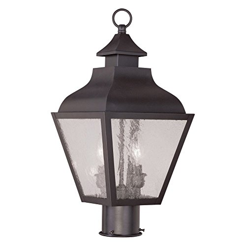 Livex-Vernon-2452-07-2-Light-Outdoor-Post-Head-in-Bronze-0