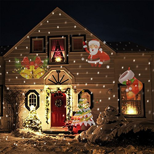Lollipop-Rotating-Projection-Led-Snowflake-Spotlight-12PCS-Colorful-Lens-4-LED-Christmas-Star-Projector-Lights-wWaterproof-Timing-Function-for-Garden-Yard-Wall-Trees-Holiday-Party-Decoration-0-2
