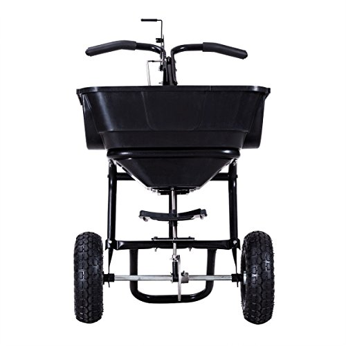 MD-Group-Broadcast-Spreader-Garden-Seeder-Push-Walk-Plants-Seed-Salt-Fertilizer-55lbs-Capacity-0