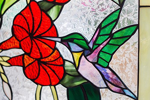 Mexicolour-Humming-bird-Stained-Glass-Leaded-Tiffany-Style-Garden-Home-Window-Panel-Handcrafted-Sun-Catcher-0-0