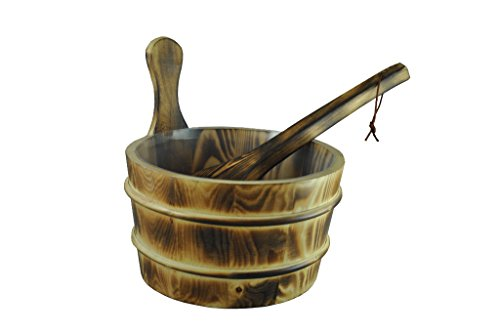 Northern-Lights-Group-Burned-Wood-Sauna-Bucket-with-Scoop-Ladle-Liner-0