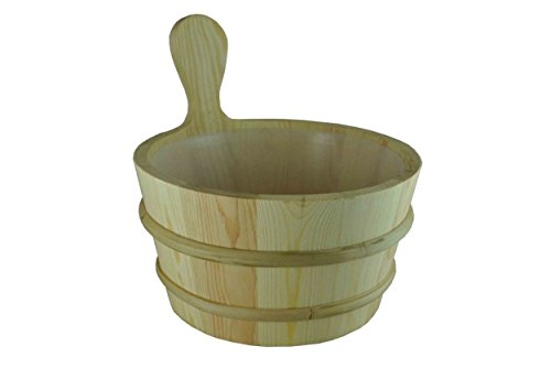 Northern-Lights-Group-Pine-Sauna-Bucket-with-Liner-1-Gallon-0