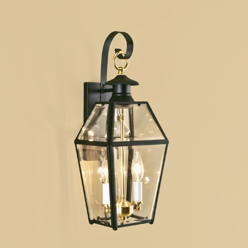 Norwell-Lighting-1066-BL-BE-Olde-Colony-Two-Light-Outdoor-Wall-Mount-Finish-BL-Black-0