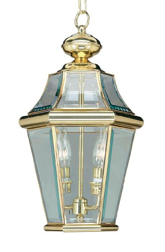 Outdoor-Pendants-2-Light-Georgetown-with-Clear-Beveled-Glass-Polished-Brass-Size-8-in-100-Watts-World-of-Crystal-0