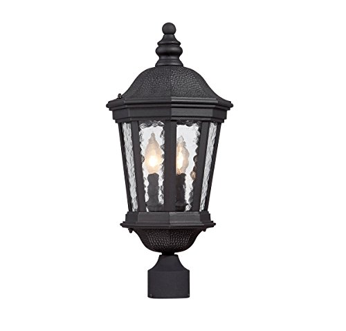 Outdoor-Post-2-Light-with-Black-Finished-Candelabra-Base-Bulbs-10-inch-120-Watts-0