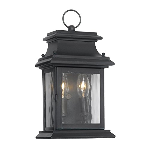 Outdoor-Wall-Lantern-Provincial-Collection-In-Solid-Brass-In-A-Charcoal-Finish-0