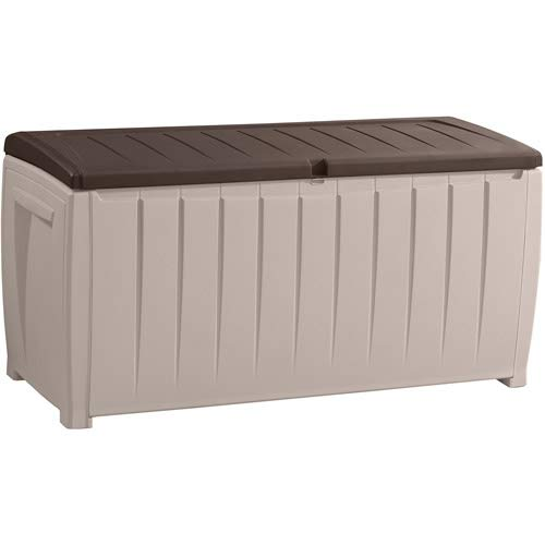 Patio-Outdoor-Plastic-Deck-Box-UV-Protected-and-All-Weather-Resistant-Resin-Storage-Comfortable-Seating-Bench-Mildew-Free-with-Ventilation-Openings-made-of-Polypropylene-Resin-Plastic-0