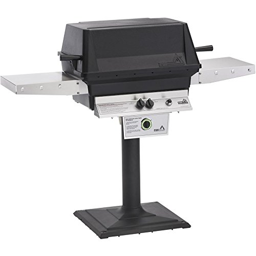 Pgs-T-series-T40-Commercial-Cast-Aluminum-Freestanding-Natural-Gas-Grill-With-Timer-On-Bolt-down-Patio-Post-0
