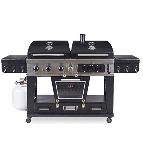 Pit-Boss-Memphis-Ultimate-4-in-1-LP-Gas-Charcoal-Smoker-0