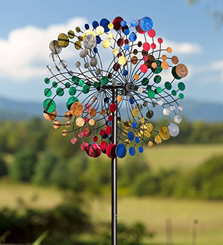 Plow-Hearth-Geometric-Outdoor-Garden-Wind-Spinner-Yard-Sculpture-0-0