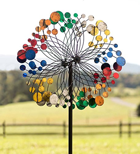 Plow-Hearth-Geometric-Outdoor-Garden-Wind-Spinner-Yard-Sculpture-0