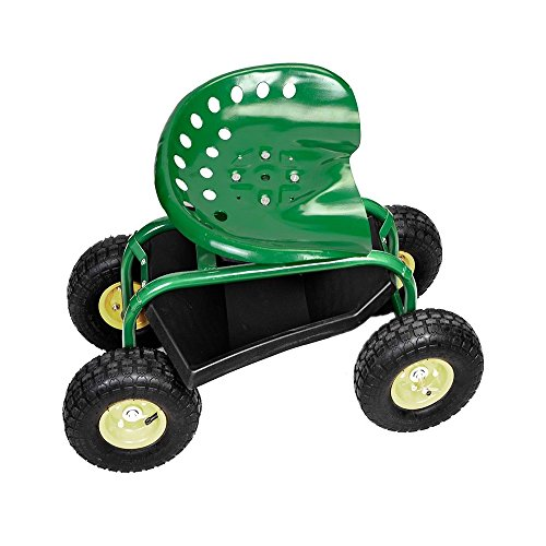 Rolling-Garden-Cart-Work-Seat-with-Heavy-Duty-Tool-Tray-Gardening-Planting-Green-0-0