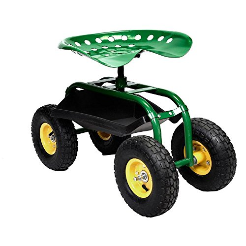 Rolling-Garden-Cart-Work-Seat-with-Heavy-Duty-Tool-Tray-Gardening-Planting-Green-0-14