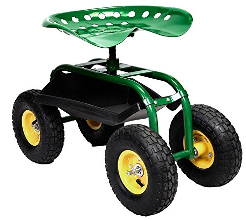 Rolling-Garden-Cart-Work-Seat-with-Heavy-Duty-Tool-Tray-Gardening-Planting-Green-0-6