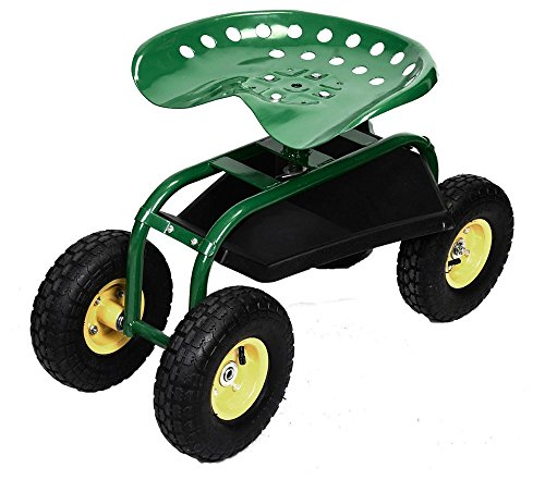 Rolling-Garden-Cart-Work-Seat-with-Heavy-Duty-Tool-Tray-Gardening-Planting-Green-0-7