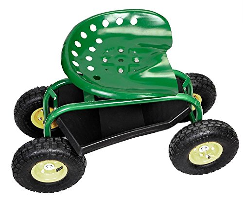 Rolling-Garden-Cart-Work-Seat-with-Heavy-Duty-Tool-Tray-Gardening-Planting-Green-0-8
