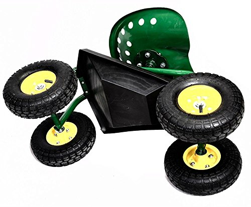 Rolling-Garden-Cart-Work-Seat-with-Heavy-Duty-Tool-Tray-Gardening-Planting-Green-0-9