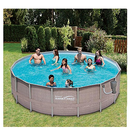 SUMMER-WAVES-Elite-16-x-48-Above-Ground-Frame-Pool-Set-Kokido-Electric-Pool-Vacuum-0-1