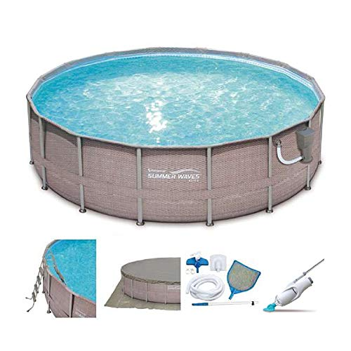 SUMMER-WAVES-Elite-16-x-48-Above-Ground-Frame-Pool-Set-Kokido-Electric-Pool-Vacuum-0