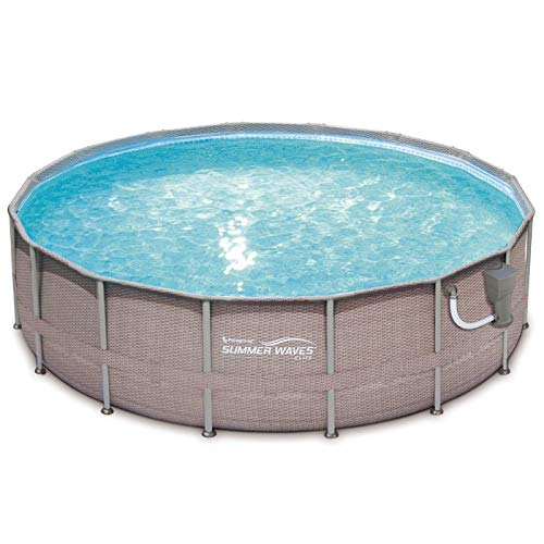 SUMMER-WAVES-Elite-Wicker-Print-18-x-48-Above-Ground-Frame-Pool-Set-with-Pump-0-0