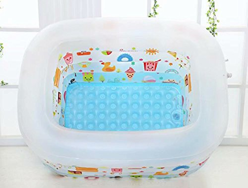 SYHY-4-Ring-Children-Inflatable-Pool-Baby-Paddling-Pool-Children-Family-Inflatable-Bath-Tub-PoolMatte-White-0-0