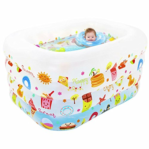 SYHY-4-Ring-Children-Inflatable-Pool-Baby-Paddling-Pool-Children-Family-Inflatable-Bath-Tub-PoolMatte-White-0