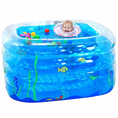 SYHY-4-Ring-Transparent-blue-Children-inflatable-pool-baby-paddling-pool-children-family-inflatable-pool-bath-tub-Pool14011070cm-0