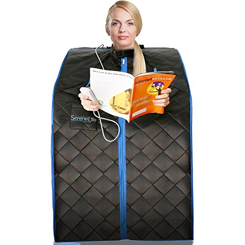 SereneLife-Portable-Infrared-Home-Spa-One-Person-Steam-Sauna-for-Detox-Weight-Loss-0