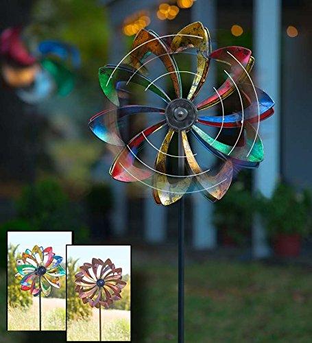 Solar-LED-Metal-Flower-Garden-Wind-Spinner-245-dia-x-115-D-x-75-H-0
