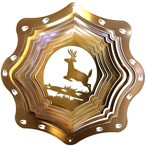 Stainless-Steel-Deer-3D-12-Inch-Wind-Spinner-Copper-0